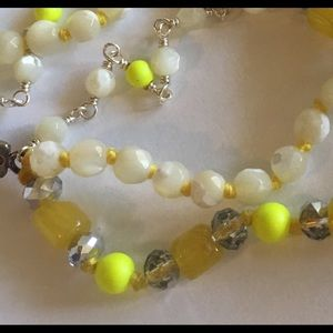 Anthropologie Jewelry - Chan Luu 3 Strand Necklace Mother Pearl Crystal N